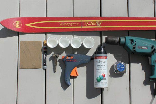 Supplies needed to make a shot ski.