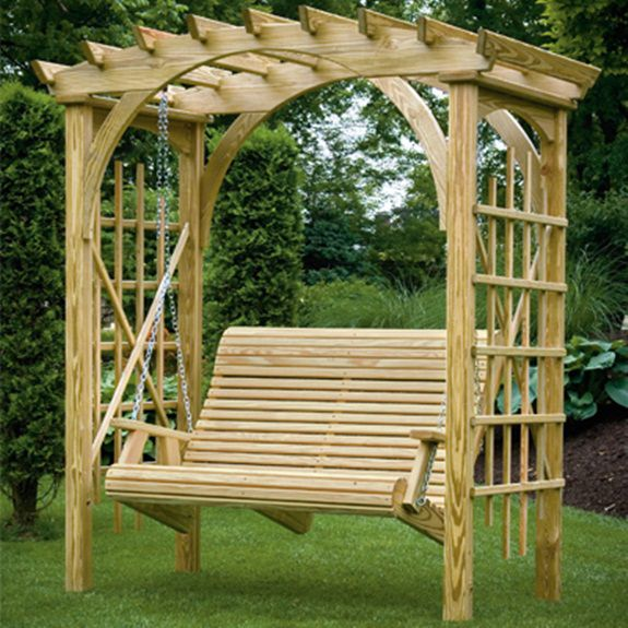 Best 25 arbor swing ideas on pinterest garden swing sets pergola swing and backyard swings - Arbor bench plans set ...