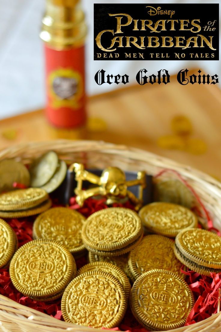 Pirates Of The Caribbean: Dead Men Tell No Tales Edible Gold Coins & Activity Sheets. Pirate Party Recipe!