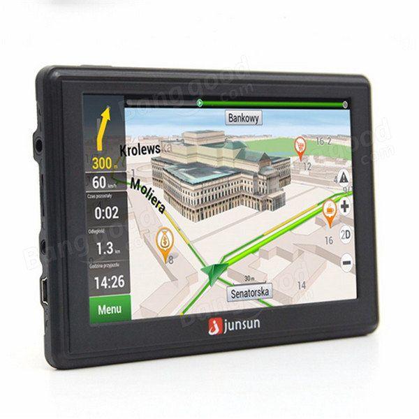 Junsun D100S 7 Inch Car 3D GPS Navigation Mointor Bluetooth w/Rear view Camera Free Map Tough Screen Sale - Banggood.com