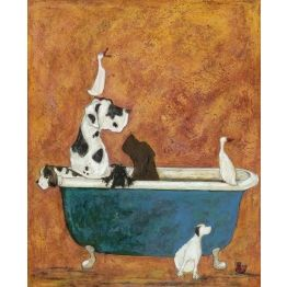 Big Dog Bath - sign up to our newsletter to get 10% off this & all of our art prints