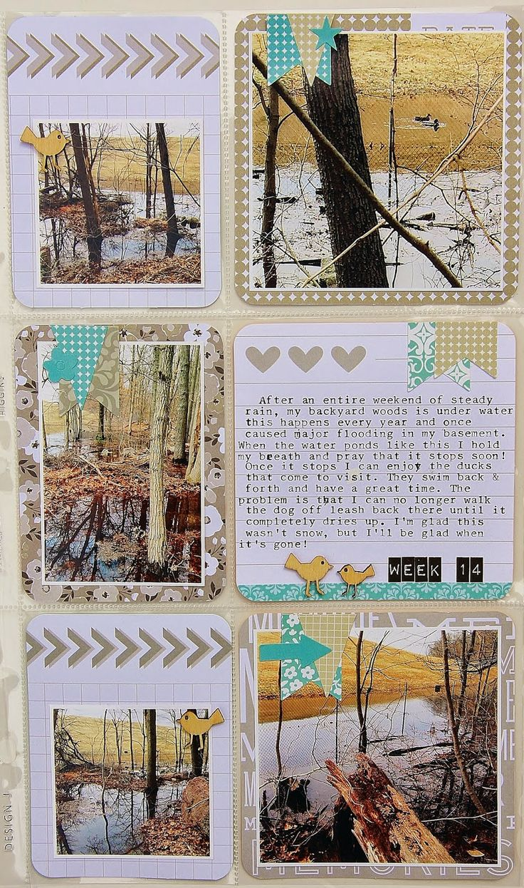 Vintage style scrapbook ideas - Project Life Week 14 Just My Style