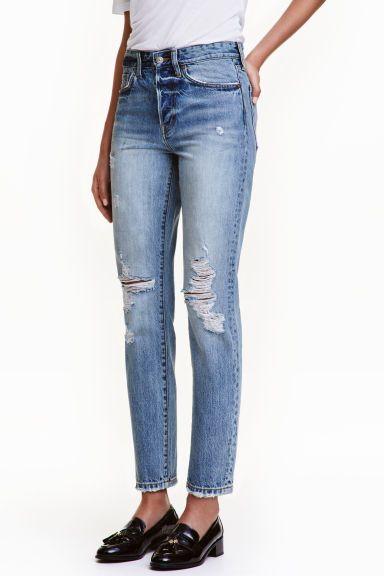Vintage High Cropped Jeans - Bleu denim - FEMME | H&M FR 1
