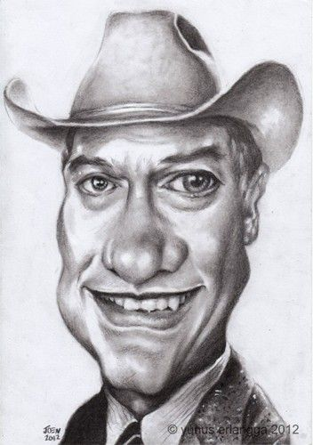 larry hagman by joen yunus
