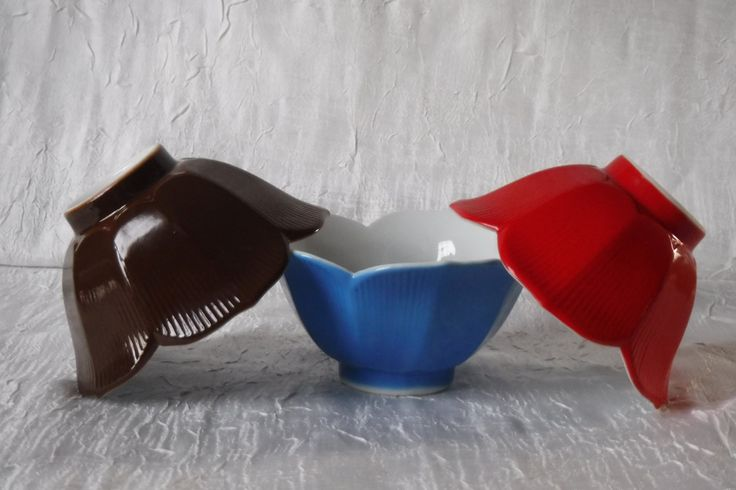 Lotus Bowls / Made in Japan / Vintage 1960's Rice Bowls / Retro Mod Set of 3 by OriginalVintageGypsy on Etsy