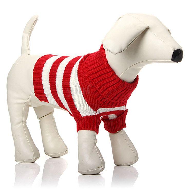 Dog-Pet-Warm-Jumper-Knit-Sweater-Coat-Clothes-Puppy-Cat-Knitwear-Costume-Apparel
