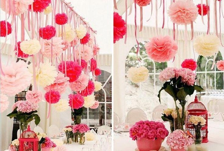 centimetri 8 pollici carta velina pom poms decorazione della festa nuziale del mestiere fiore di carta la cerimonia nuziale della decorazione fiori decorativiall'ingrosso