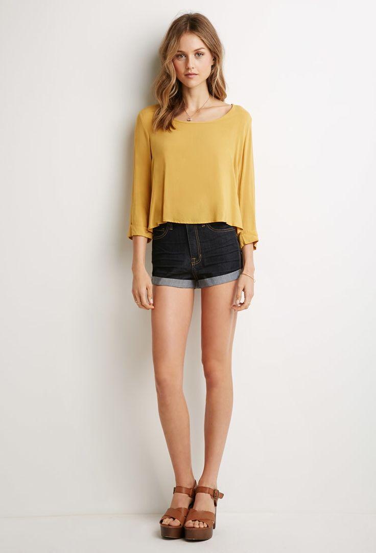 Cuffed Denim Shorts | Forever 21 - 2002247466