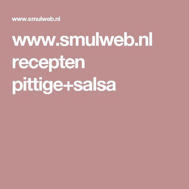 www.smulweb.nl recepten pittige+salsa