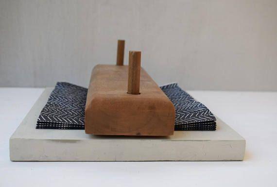Handmade napkin holder, minimal design, practical useful gift by Decordemon