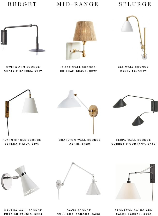 Bedroom Wall Sconces For Reading wall mount swing arm lamp wall mounted lamp swing arm swing arm wall lamp 9 Bedside Sconces To Brighten Up Your Nighttime Reading