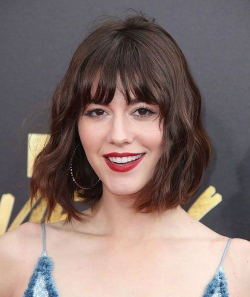 14+ Wavy bob hairstyles with fringe ideas in 2021