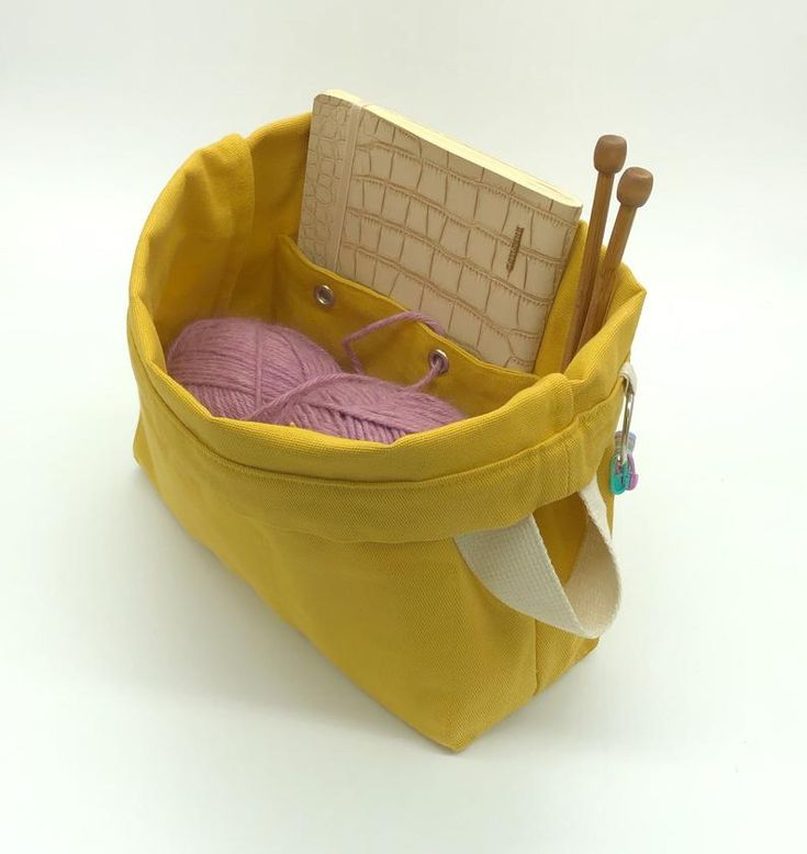 Knitting Bag And Casesingle Or Setwakaraki Japanese Tree Design Natural
