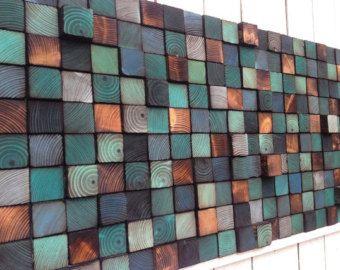 Abstract Wall Art Reclaimed Wood Wall Sculpture от WallWooden