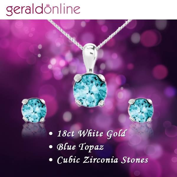 Look elegant with the dazzling round cut stones set in eighteen carat white gold!