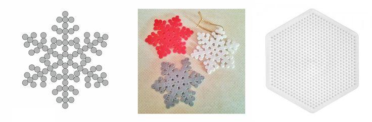 Copos de Nieve Hama Beads