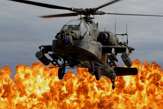Indian Military Apache Helicopter
