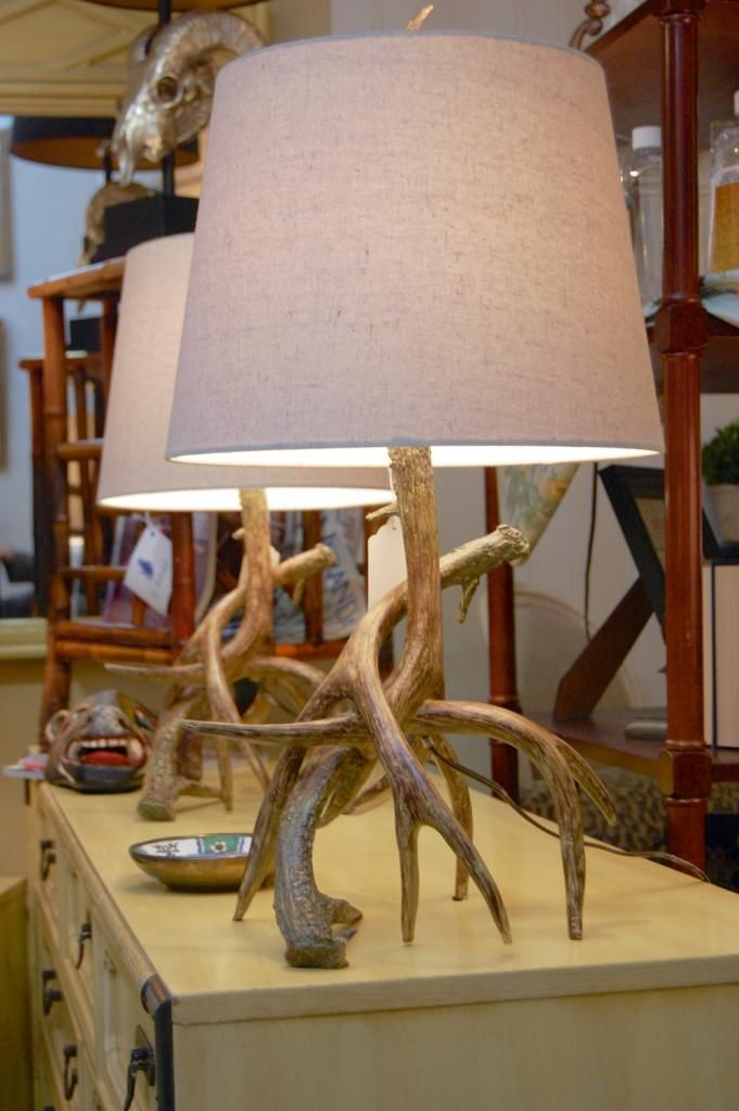 Antler Lamp from Hunt& Gather