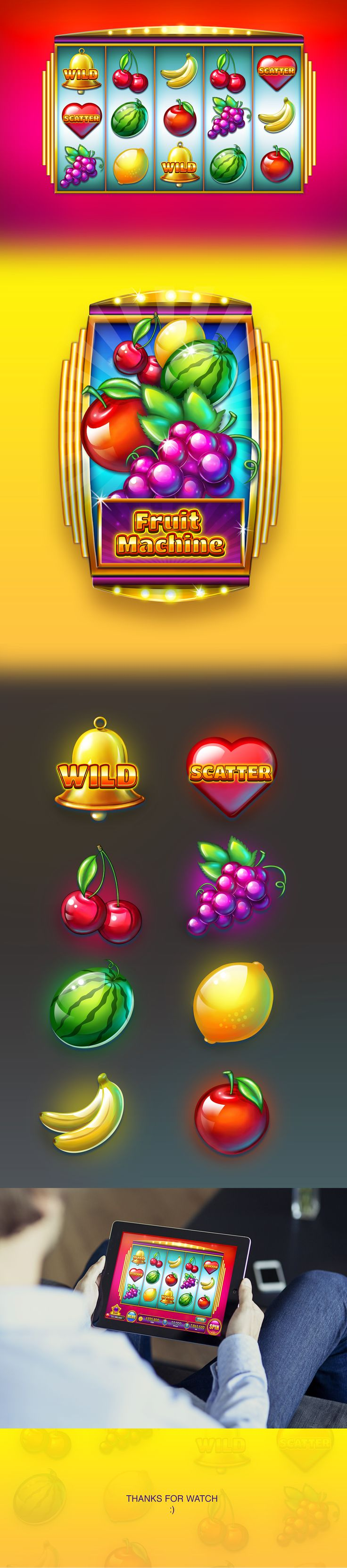 Fruits Machine Slots on Behance
