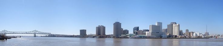 New Orleans - Panorama of the Bridge, River and CDB.