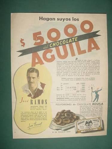 Publicidad Futbol Jose Ramos River Plate Chocolates Aguila