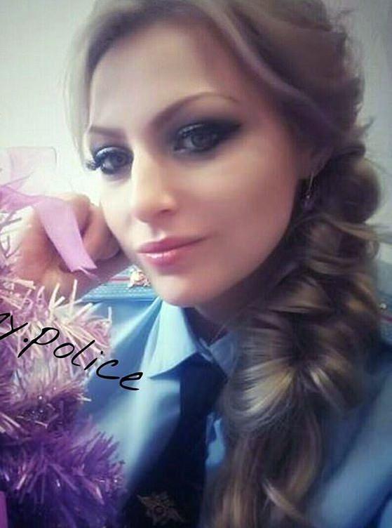 Selfie In Her Police Uniform
