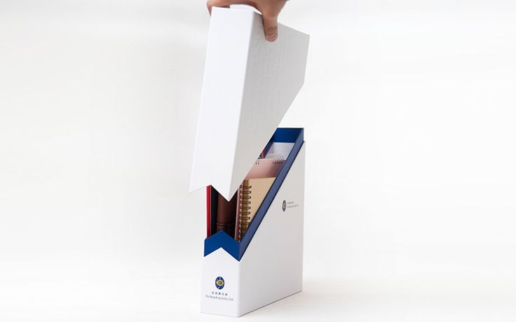 The Hong Kong Jockey Club Staff Welcome Kit for new recruits gift, design concept come from recycle to use, when open the box, transform to two stationery ...