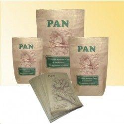 Saco para pan reutilizable, reciclable, renovable y biodegradable. Color: kraft marrón liso, impresión estándar. http://www.ilvo.es/6507-sacos-pan-45-x-14-x-65.html