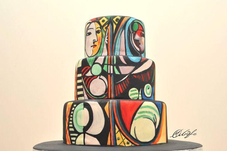 Maria A. Aristidou's cake painting