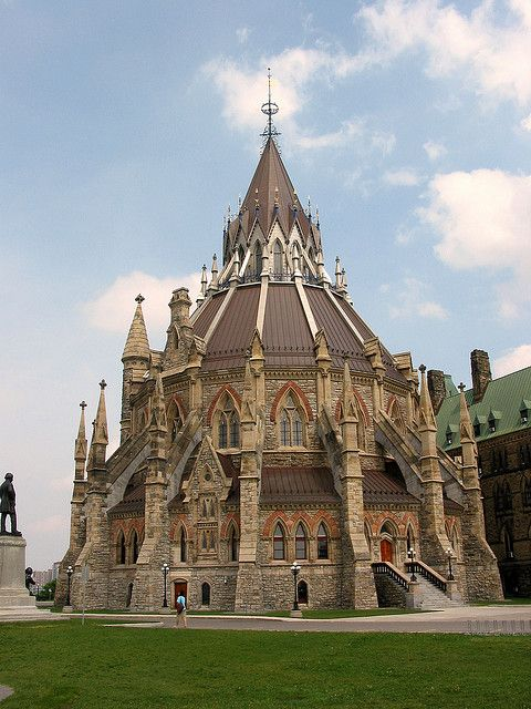 What a gorgeous building! The Library of Parliament in Ottawa, Canada (by Luke).