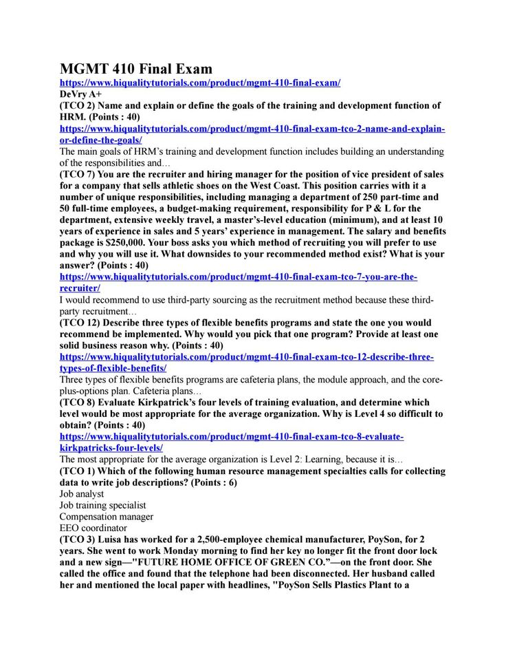 mgmt 597 final exam Fin 516 week 8 final examdocx accounting for pensions and postretirement benefits acct557 week 5 quiz-solutions week 8_final exam-with answers acct557 week 7.