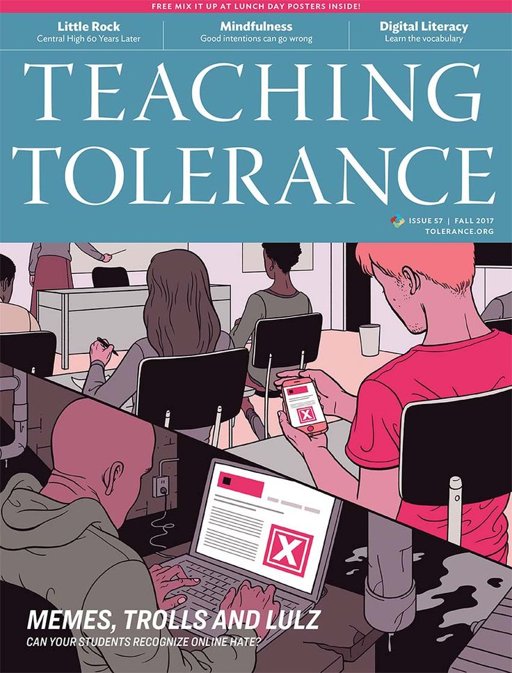 "Teaching Tolerance magazine helps teachers fight 'alt-right' influence on students----In the wake of the deadly violence in Charlottesville, the ""alt-right"" movement is continuing to use social media and pop culture to indoctrinate young people with its hateful ideology, but teachers can take action in the classroom to counter its influence, according to the latest issue of the Southern Poverty Law Center's Teaching Tolerance magazine released today."