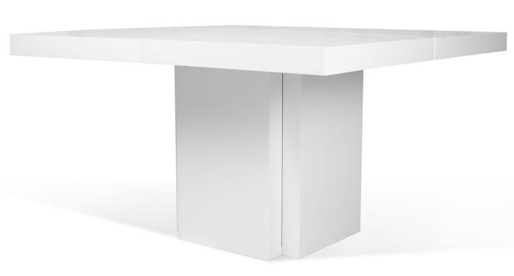 TemaHome Vierkante Tafel Dusk 150 - Hoogglans Wit