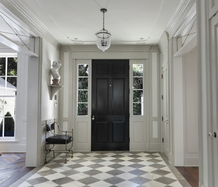 Limestone Foyer Flooring : Stunning entry beautiful greige limestone and white