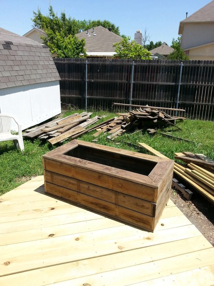 Proclaimed Deck boards now a large planter