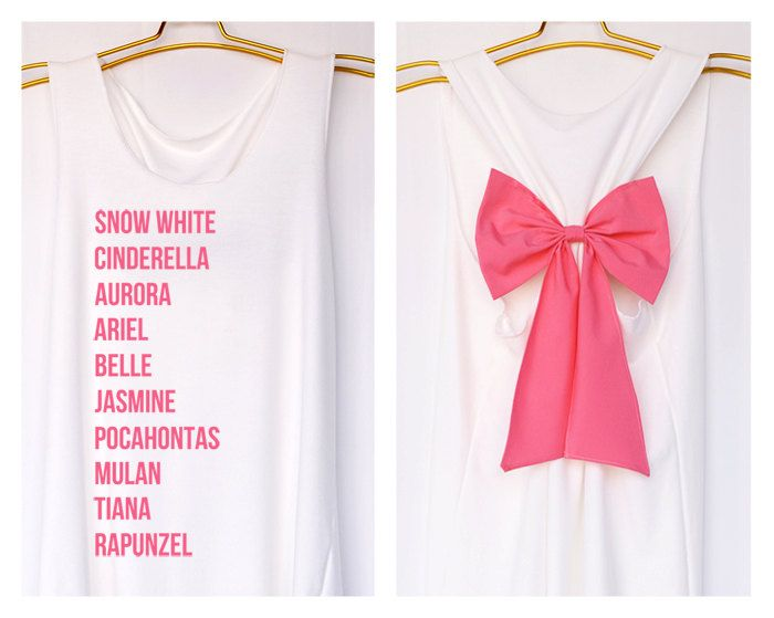 Princess Names American Apparel Premium with Bow  by DollysBow, $27.99