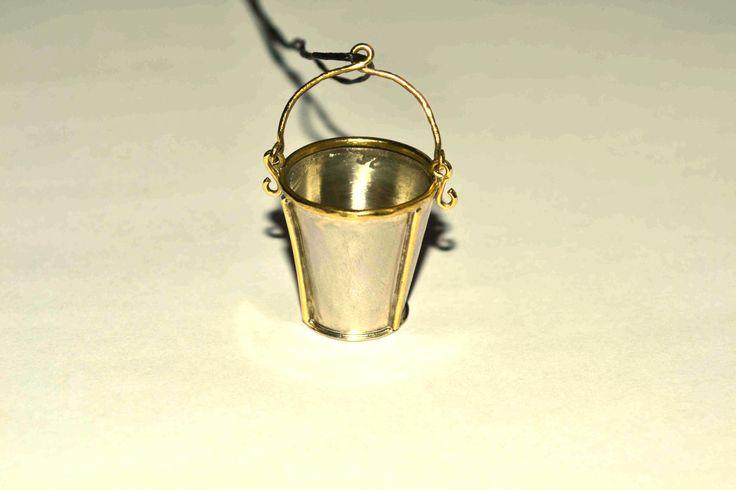 Bucket in style.... handmade pendant. by Efstathia.