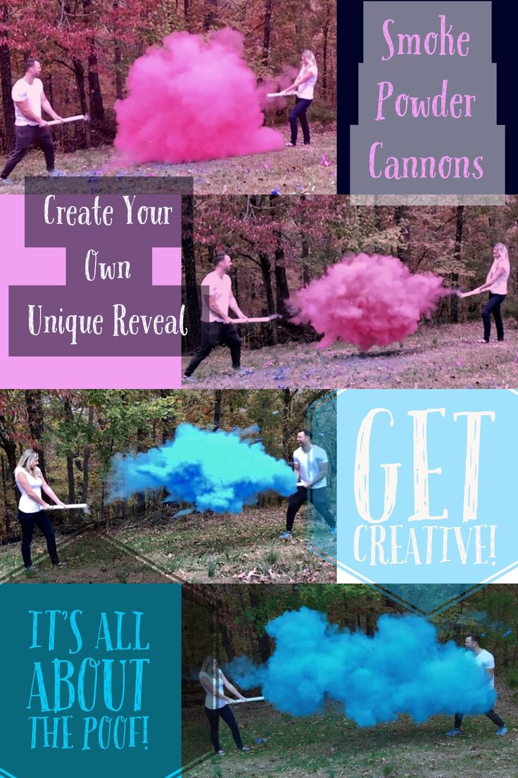 Smoke Powder Cannons! New Gender Reveal Ideas! Smoke bomb gender reveals are out and smoke powder cannons are in. Unique gender reveal idea amazing gender reveal pictures for the picture perfect reveal better than smoke bombs or smoke fountains