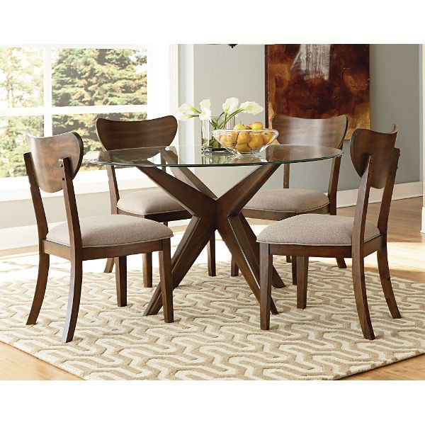 Kitchen Tables Sets For 376 best dining rooms images on pinterest dining room dining sets roxbury walnut 5 piece dining set workwithnaturefo