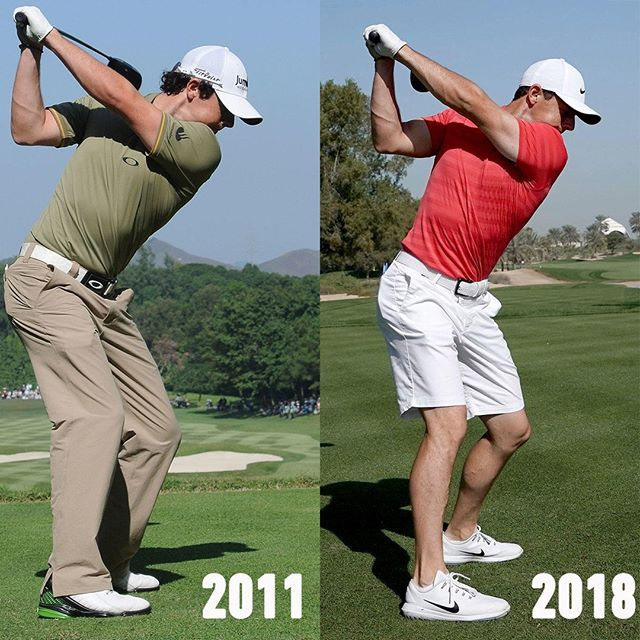 Rory Mcilroy S Driver Swing 2011 Vs 2018 Almost Identical