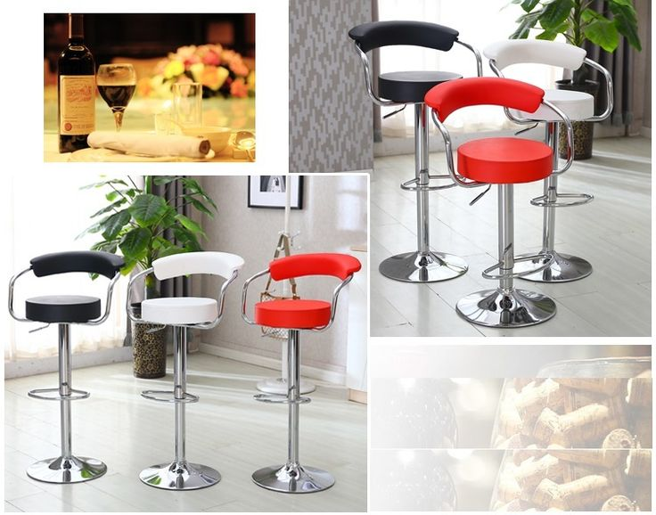 office computer chair sample fair hall meeting room chair red white black color PU seat stool free shipping