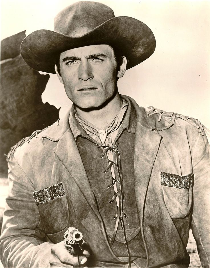 Clint Walker had the perfect combination to play Cheyenne Bodie. His great physique - 48-inch chest and a 32-inch waist, along with his height - 6 feet, 6 inches tall, and his manly good looks.