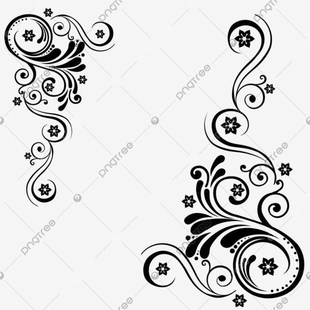 creative hand painted black flower vine decoration leaf line floral ornament png transparent clipart image and psd file for free download in 2020 flowering vines vine decoration vector flowers pinterest