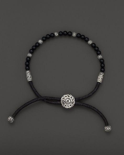 John Hardy Men's Sterling Silver Batu Bracelet with Black Onyx Bea