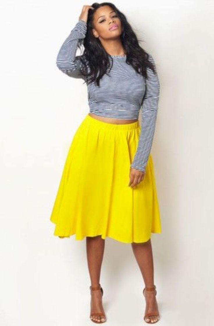 Trendy kurvige Mädchen Outfit Ideen 09