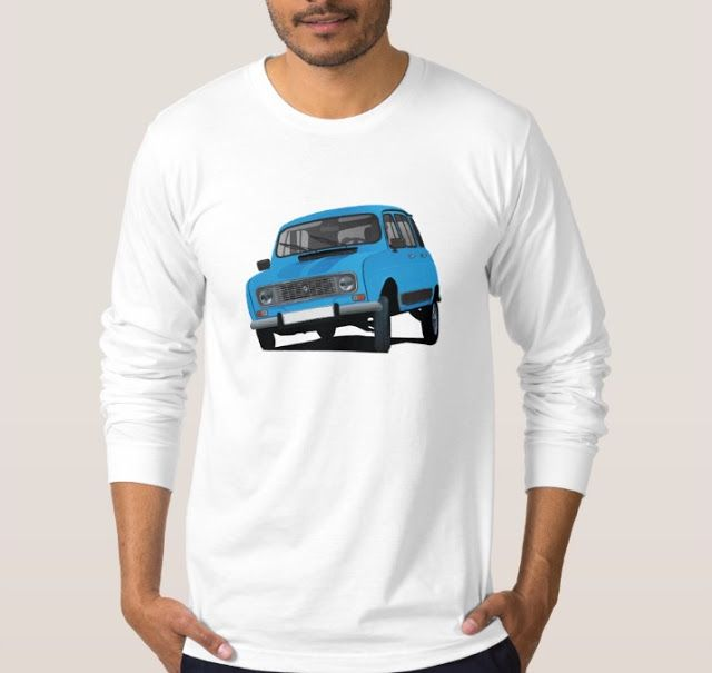 Blue Renault 4L from 80's. #french #france #automobiles #car #automobile #classiccars #illustration #80s #tshirt #tshirts #redbubble #vintage #blue #auto #zazzle #renault #renault4 #renault4l #renaultr4 #cars