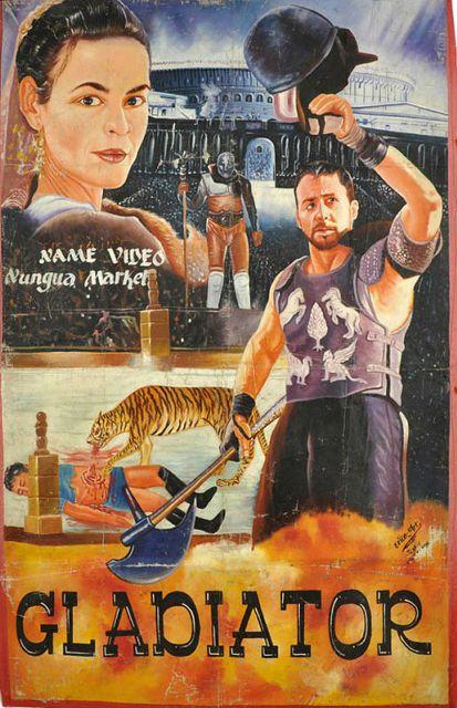 西アフリカ・ガーナの素晴らしくアートな手描き映画ポスター30枚 - DNA|グラディエーター