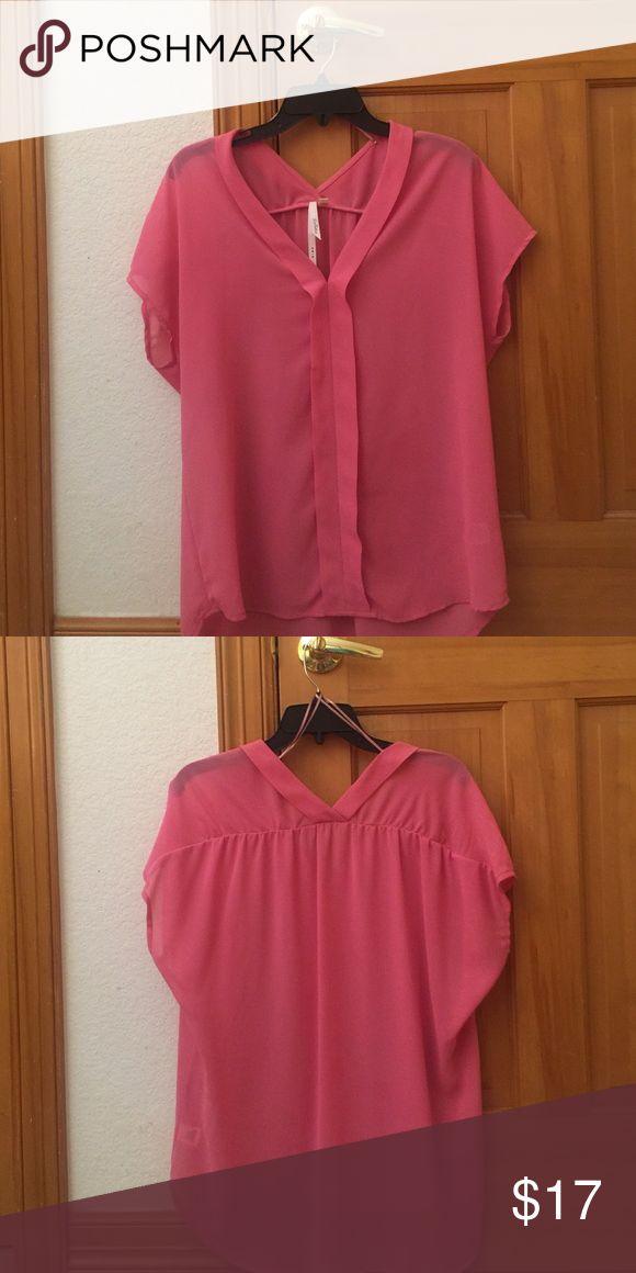 Pink short sleeve top Worn once, looks new! Bellatrix Tops Blouses