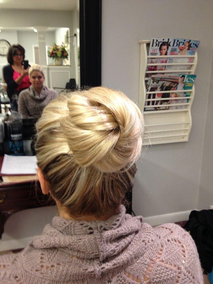 High bun #wedding #topknot