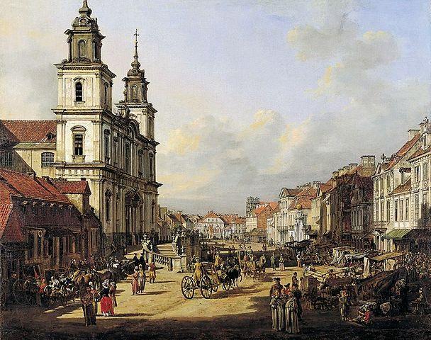 Варшавская улица Краковское предместье, полотно Каналетто, 1778 г.